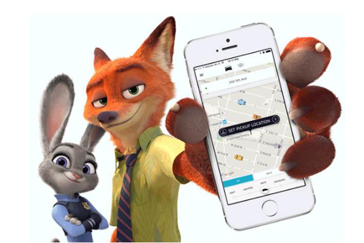 APP开发公司盘点《疯狂动物城》的自然广告植入