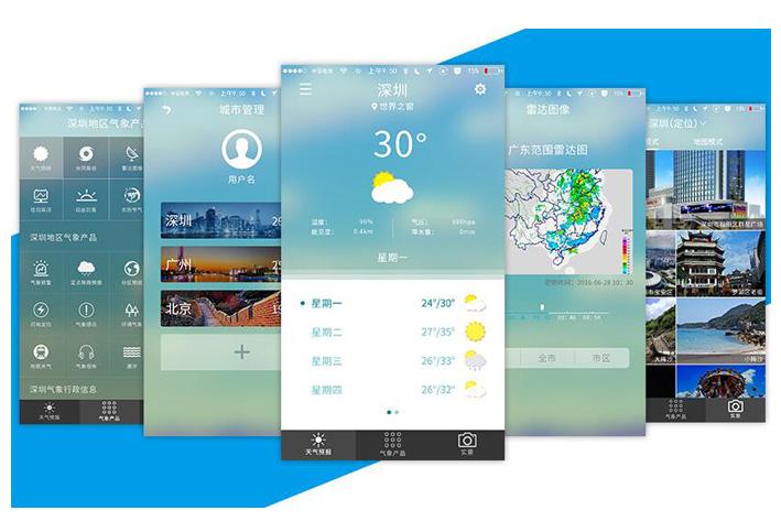 天气预报APP软件
